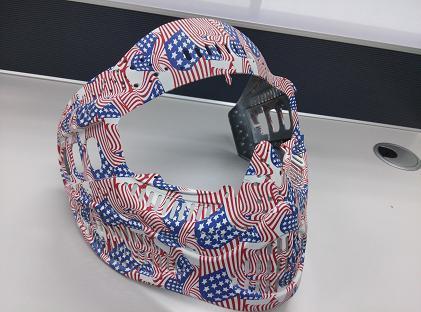 头盔国旗水转印加工